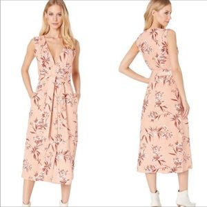 NWT Joie Ethelda Linen Floral Midi Dress